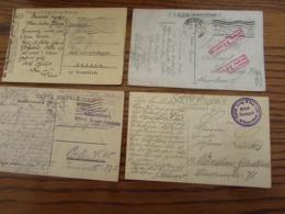 5 Cartes Vues En Feldpost Oblitérées BRUSSEL 1 Ou BXL NORD. Cachets Divers D'armées ( - WW I