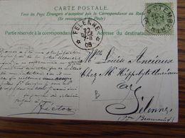 Carte De Fantaisie Oblitérée Du RELAIS De STEMBERT Pour Le RELAIS De FELENNE En 1905 - Sterstempels
