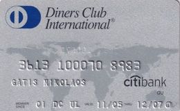 GREECE - Citibank, Diners Club(reverse Axalto), 11/04, Used - Cartes De Crédit (expiration Min. 10 Ans)
