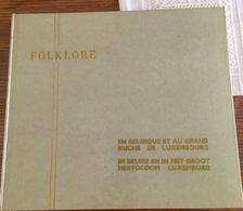 2 Boeken Folklore Van België & Groothertogdom Luxemburg Deel 1 En Deel 2 - Oud