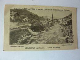 ALLEVARD Les Bains - Cours Du Bréda - Notice Monastère Chocolaterie Aiguebelle - Vieux Papiers