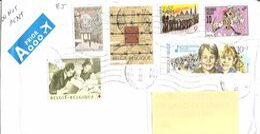 BELGIO - 2020 Lettera Posta Aerea Per L'estero Con 6 Francobolli - 4144 - Belgium