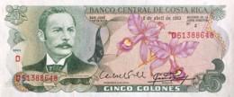 Costa Rica 5 Colones, P-236d (7.4.1983) - UNC - Costa Rica