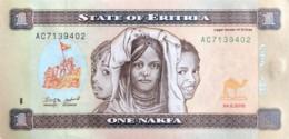 Eritrea 1 Nakfa, P-13 (24.5.2015) - UNC - Eritrea
