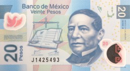 Mexico 20 Pesos, P-122m (10.6.2013) - UNC - Serie X - Mexique
