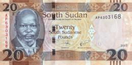 South Sudan 20 Pounds, P-13c (2017) - UNC - South Sudan