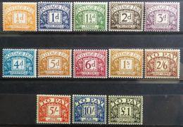 Gran Bretaña: Año. 1959 -1963  Serie, CPTA. 13/Val. (Impuestos, Filig. Tipo, 179 - Múltiple San Eduardo) Dent. 14X15 - Tasse