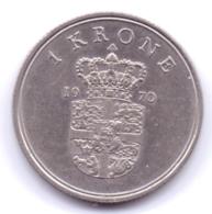 DANMARK 1970: 1 Krone, KM 851 - Denmark