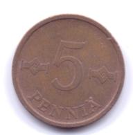 FINLAND 1969: 5 Penniä, KM 45 - Finnland
