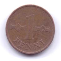 FINLAND 1969: 1 Penni, KM 44 - Finlandia