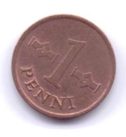 FINLAND 1968: 1 Penni, KM 44 - Finlandia