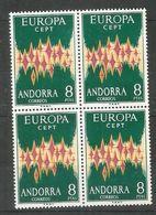 4x ANDORRA - MNH - Europa-CEPT - Art - 1972 - See 2 Scan - Europa-CEPT