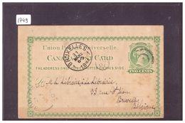 CANADA  -  ENTIER POSTAL - GANZSACHE - 1860-1899 Règne De Victoria