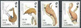 Gambia 1993, WWF - Pangolin, MNH Stamps Set - Gambia (1965-...)