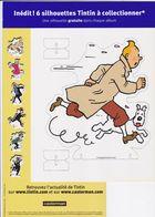 Etat Neuf Série 6 Silhouettes Pré-découpées En Carton BD Tintin Herge / Moulinsart 2005 - Other