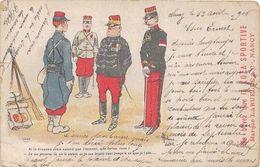 """1906 MILITARIA Humour Par Albert GUILLAUME  : Pub:"""" Ne Buvez Que La KOLA SPORTIVE - Humour"""