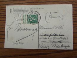 Carte Vue (Gand) Affranchie Avec Le N° 110 (lion Debout) Oblitérée GENT-TENTOONSTELLING (bilingue) En 1913 - Postmark Collection