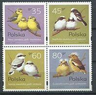 267 - POLOGNE 1995 - Yvert 3355/58 - Oiseau - Neuf ** (MNH) Sans Trace De Charniere - Nuovi