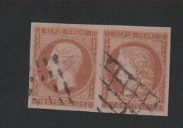 Faux Paire De Fournier N° 1 Et N° 9 Cérès + Napoléon Oblitéré - 1849-1850 Ceres