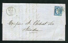 Belle Lettre De Pléaux Pour Aurillac ( 1871 ) Avec Un N° 46B - 1849-1876: Klassieke Periode