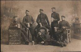 ! Foto,  Photo, Militaria, MILITAIRE, Soldatenfoto Friedrichsfeld Bei Wesel, 1908, Beersteins, Reservistenkrug - Personen