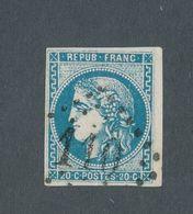 FRANCE - N°YT 46A OBLITERE GC 110 - 1870 - 1870 Emission De Bordeaux