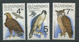 267 - SLOVAQUIE 1994 - Yvert 161/63 - Oiseau Rapace Hibou - Neuf ** (MNH) Sans Trace De Charniere - Slovacchia