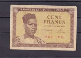 Mali 100 Fr  1960  Fine   ( First Issue ) - Malí
