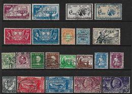 IRELAND 1937 - 1948 COMMEMORATIVE SETS FINE USED COLLECTION Cat £51+ - 1937-1949 Éire