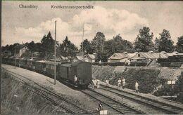 ! Ansichtskarte Chambley Vereinslazarettzug, Eisenbahn, Rotes Kreuz, Croix Rouge, Red Cross - Trains
