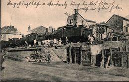 ! Ansichtskarte Montmedy, Eisenbahn Bau Kompagnie, 1. Weltkrieg, Dampflok, 1915 - Trains