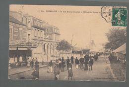 CPA - 44 - Saint-Nazaire - Rue Amiral Courbet Et Hôtel Des Postes - Saint Nazaire