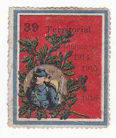 Vignette Militaire Delandre - 39ème Régiment Territorial D'infanterie - Etat Très Moyen - Military Heritage
