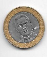 *dominican Republic 5  Pesos 2002  Km 89 Xf+/ms60 - Dominicana
