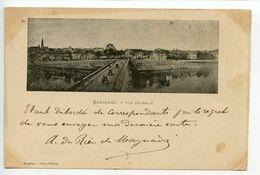 Bergerac Vue Générale Carte Pionnière Affranchissement Décembre 1899 - Bergerac