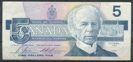 °°° CANADA - 5 DOLLARS 1986 °°° - Canada