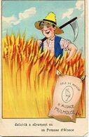 Publicité 114, Sels De Potasse, Faucheur De Blé - Publicité