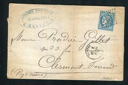 Belle Lettre De Nantes Pour Clermont Ferrand ( 1871 ) Avec Un N° 46B - 1849-1876: Klassik