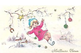 ENFANTS - LITTLE GIRL - MAEDCHEN - Jolie Carte Fantaisie  Fillette - Kinder-Zeichnungen