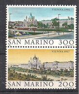 SAN MARINO 1981 VIENNA 1817 E 1981 SASS, 1072-1073 MNH XF - Nuovi