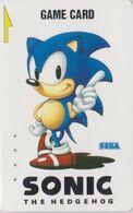 Carte Prépayée JAPON - SEGA SONIC THE HEDGEHOG - Jeu Video - JAPAN Prepaid Game Card - Animal Hérisson Igel - 28 - Spiele