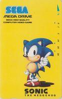 Télécarte JAPON  / 110-011 - SEGA THE HEDGEHOG - Jeu Video - JAPAN Prepaid Game Card - Animal Hérisson Igel - 29 - Spiele