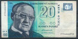 °°° FINLAND - 20 SUOMEN PANKKI 1993 °°° - Finland