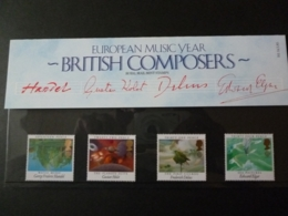 GREAT BRITAIN SG 1282-85 EUROPEAN MUSIC YEAR PRESENTATION PACK - Hojas & Múltiples