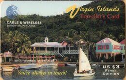 Virgin Isl. - BVI-P4, West End Pusser's, 1st Edition, Remote Memory, 3US $, 1200ex, Exp.D. 7/3/96, Mint - Vierges (îles)