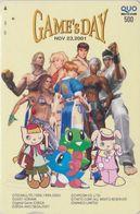 RARE Carte Prépayée JAPON - Jeu Video SEGA CAPCOM NAMCO KONAMI - MANGA - GAME'S DAY  Game JAPAN Prepaid QUO Card  12106 - BD