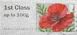 GB 2014 Symbolic Flowers 1st Type 2 Code 014524 Used [32/141/ND] - Gran Bretagna