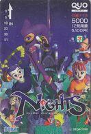 Carte Prépayée JAPON Quo - Jeu Video SEGA NIGHTS INTO DREAMS - Game Japan Prepaid  Card - Spiel Karte Manga - 12112 - Giochi