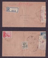WWII Japanese Occupation Malaya Penang To Syonan Reg Express Cover WW2 Atomic Bomb Day JAPON GIAPPONE Japan - Japanese Occupation