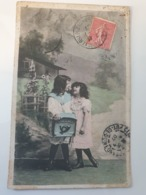 Carte Postale Ancienne Portrait D Enfants Début Du Siècle Dernier - Portraits